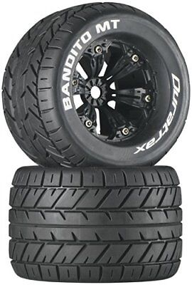 Duratrax Bandito MT 3.8 Mounted 1/2 Offset Tyre (Set of 2), Black DTXC3576