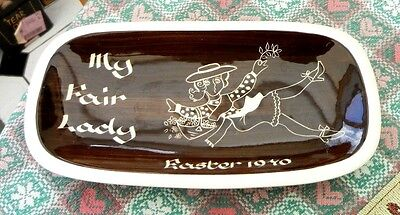 Jersey Pottery Channel Islands Pin Tray - My Fair Lady Easter 1970