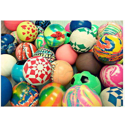 45mm Premium COLORFUL BOUNCY BALLS Assorted styles QUALITY VENDING 50 Count Bag