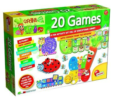 Number & Alphabet Learning Games 'Carotina' Talking Pen Activity Kit Educational