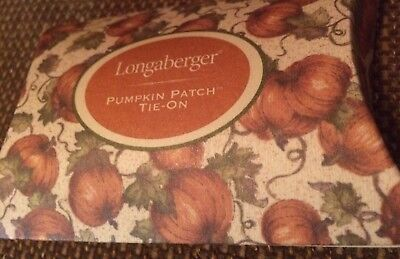 Longaberger Pumpkin Patch Tie-On Basket Accessory, #31732 Made In USA NEW