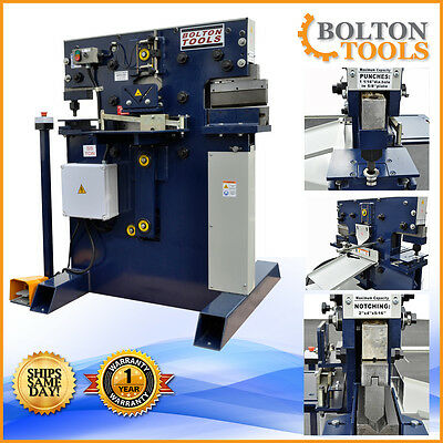 New Bolton Tools 55 Ton Ironworker Hydraulic Iron worker with Free Shipping!