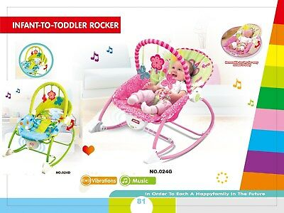 Infant-to-Toddler Rocker Newborn Soothing Music Bouncer Multifunction Chair 18kg