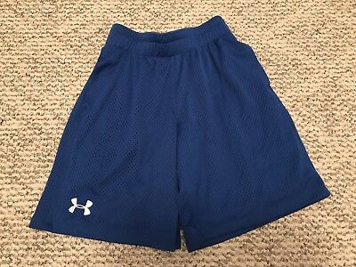 Boys Under Armour Youth Small Loose Fit Shorts Blue