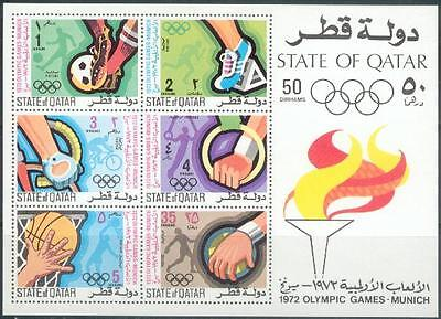 Qatar 1972 ** Bl.24 Olympische Spiele Olympic Games Fußball Football Basketball