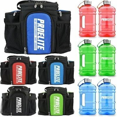 Pro Elite 3 Meal Bag Insulated Cooler Bag With Containers + FREE 2.2 Ltrs Gallon