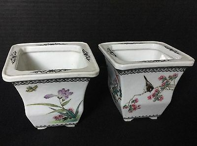 A Pair of Chinese Later Qing to Republic Famillee Rose planter