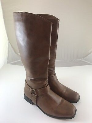 Pierre Dumas Women's Tan Knee High Riding Boots Size 9 M