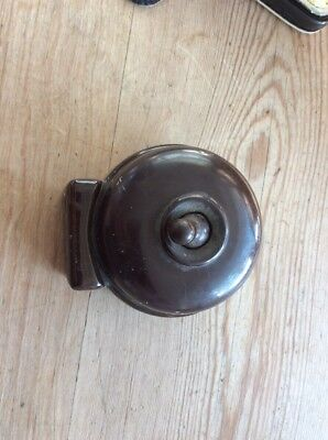 Vintage Ceramic Light Switch Toggle Dolly Old Antique Art Deco
