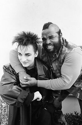 Boy George Mr T 8x10 Glossy Photo Print #BG1