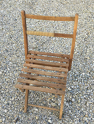 Antigua silla plegable de madera niños deco vintage70's french antigua chair