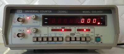 GW Instek  GUC-2020 Instruments UNIVERSAL COUNTER 200MHz Fully Tested!!!!!