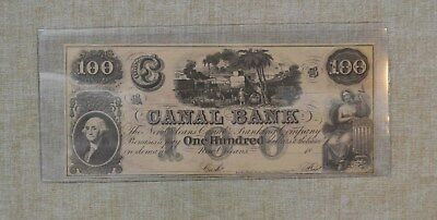 1800's 100 Dollar - Canal Bank - New Orleans Obsolete Currency - Great Shape -$