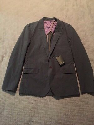 Brand New Mens Paul Smith Suit  Grey Cotton Was $1285 32 pants 40 jacket