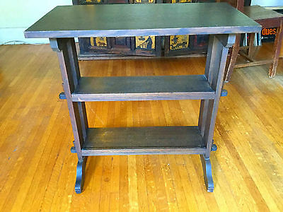 Arts & Crafts Era Signed Roycroft Little Journeys Stand Mission Oak Roycrofters