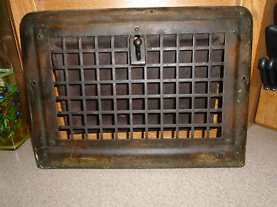 Vintage Stamped Steet Wall Grille Heat Register