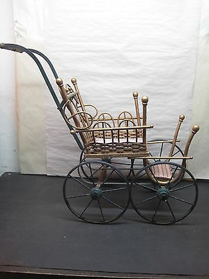 Antique Doll Carriage Wicker Doll Carriage