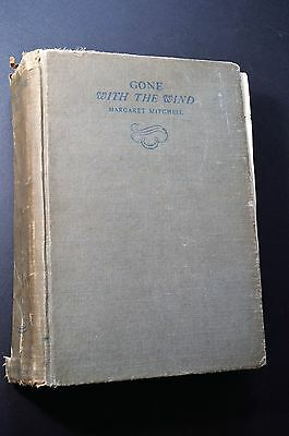 Early GONE WITH THE WIND  Margaret Mitchell - November 1936 printing, no DJ