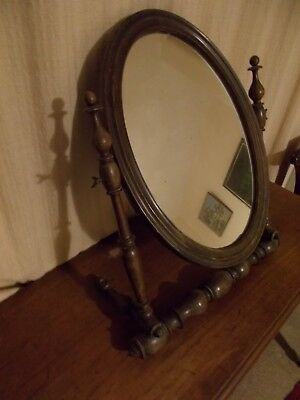Mirror. Antique foldable dressing table mirror.