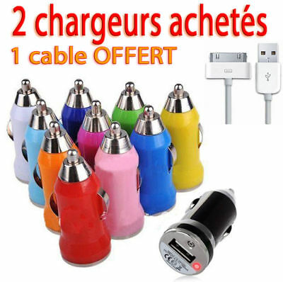 1 CHARGEUR ADAPTATEUR USB ALLUME CIGARE iPHONE 5/4S/4/3GS/iPOD/iPAD/CHARGER
