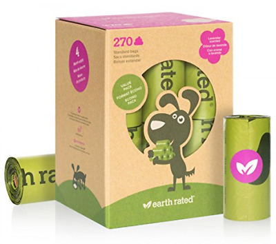 Earth Rated 270-Count Dog Waste Bags, Biodegradable Lavender-Scented Poop Bags,