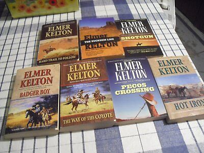 Lot of  7 Elmer Kelton western  paperback  books--inv423A