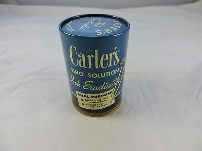Carter's Two Solution Ink Eraser Two Tone Blue Tin