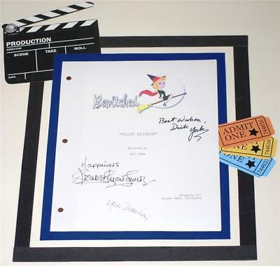 Bewitched Pilot Script Signed  Elizabeth Montgomery  Dick York  Agnes Moorehead