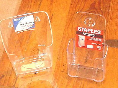 Brochure/Literature Holders 1 tier Counter-top or Wall-2 Lot New with tags