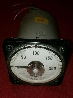 Vintage industrial GE AC KILOWATTS Panel guage whatt Meter 120V works