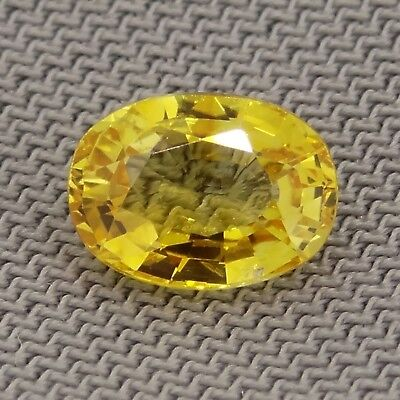 oval cut natural yellow sapphire 1.20ct Genuine Loose Gemstones