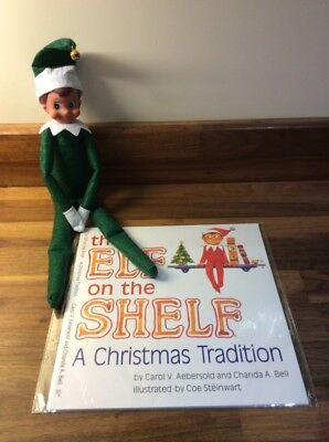 Elf On The Shelf Christmas Doll With Book *UK Seller* Available in Green