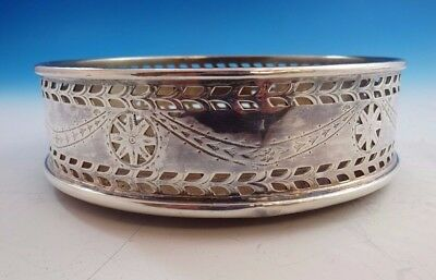Silverplate Fancy Wine or Champagne Coaster with Pierced Design