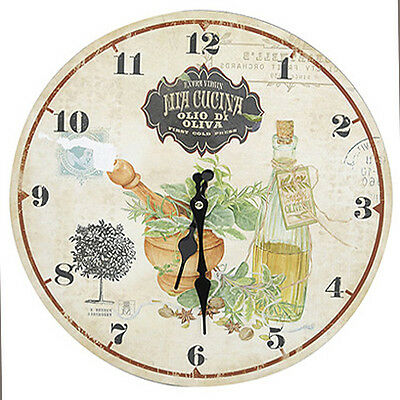 Rustic Country Style Shabby Chic Olivia Kitchen Wall Clock - NEW