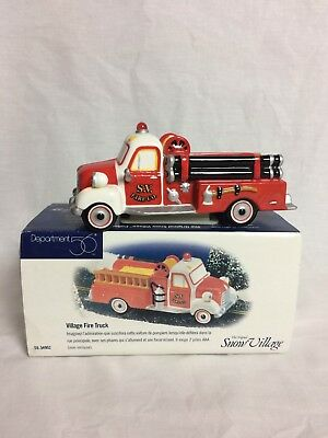 Dept 56 Snow Village - Village Fire Truck - Working Lights