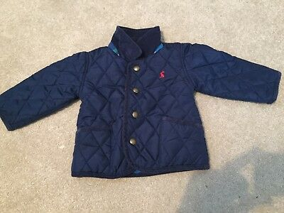 Joules Navy Quilted Jacket 9-12 months