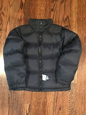 NWT Ralph Lauren Polo Puffer Jacket Navy with Black Size 8