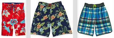 Tommy Bahama Boy's Swim Trunk Shorts UPF 50+ 100% polyester Various Pattern/Size