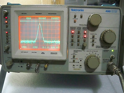 Tektronix 496 Spectrum Analyzer (1Khz- 1.8Ghz)**