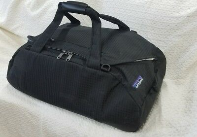 Patagonia Duffel Bag Black Travel Luggage Gym Large