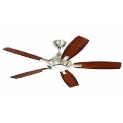 Petersford 52 In Led Brushed Nickel Ceiling Fan