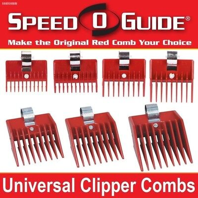 7 SPEED O GUIDE Universal Clipper Attachment Combs Set Kit Fits Most Brands