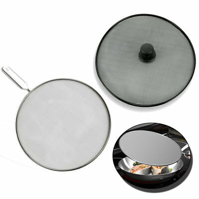 Frying Pan Cover Splash Guard Cooking Oil Hot Food Splatter Screen Kitchen Mesh