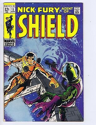 Nick Fury,Agent of SHIELD #11  Marvel 1969