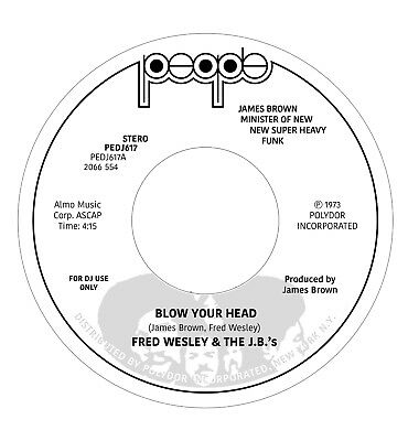 """WESLEY, Fred & THE JB'S - Blow Your Head - Vinyl (7"""")"""