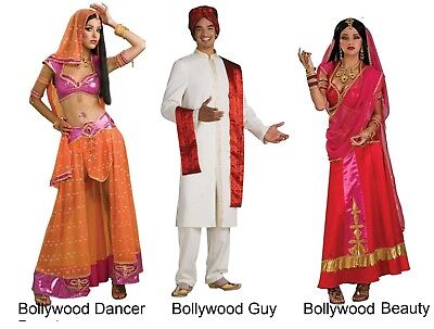 Bollywood Guy Male and Bollywood Dancer Or Beauty Female Adult Costume  New