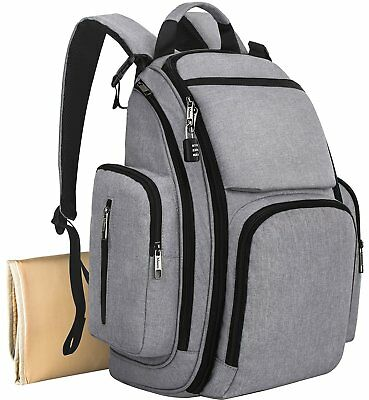 Mancro Diaper Bag Backpack, Organizer Back Pack for Mom / Dad with Baby Stroller