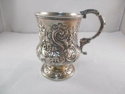"English Georgian Sterling Silver Christening Cup 3-1/2"" Height"