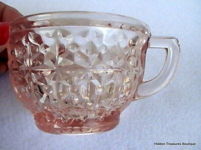 Jeannette Holiday Pink Depression Cup Only Buttons & Bows