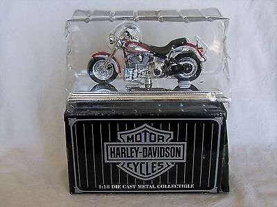Maisto Avon Series 1:18 Harley 1999 FLSTF Fat Boy  Motorcycle *New*